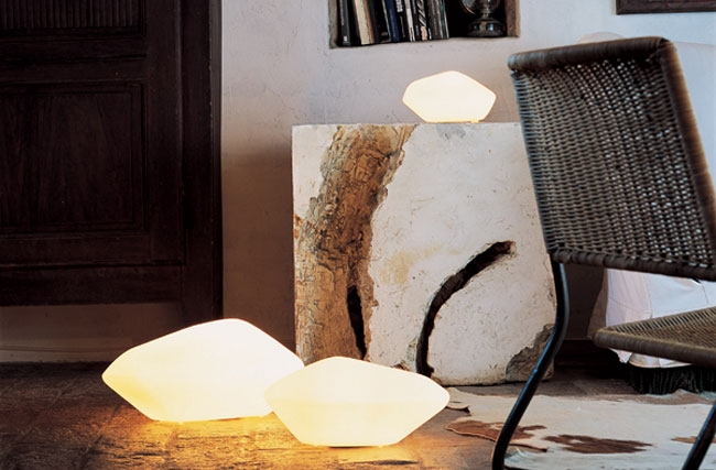 Stone of Glass - Table/Floor lamp